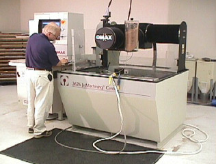 picture of small waterjet machining center 26 x 26 inch cutting area