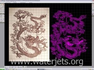 Dragon artword automatically traced from photograph