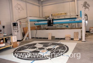 Marble medallion and JetEdge waterjet machine