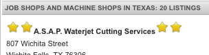 a double star waterjets listing