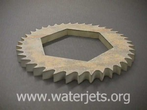 Wierd gear thing machined with an abrasive-jet.