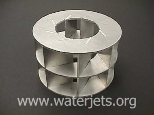 3 Dimensional part made from flat material machined with an abrasivejet