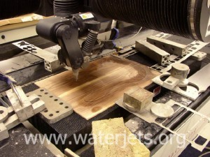 thin wood waterjet cut