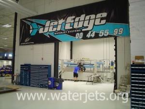 Michael Waltrip Racing waterjet workshop