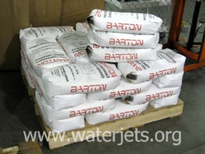bags of garnet abrasive
