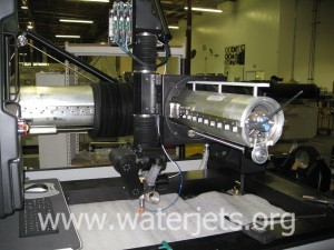 waterjet positioning system with bellows removed