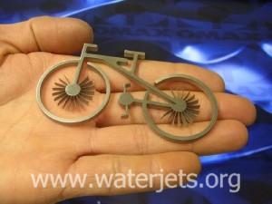 metal bicycle cut by waterjet