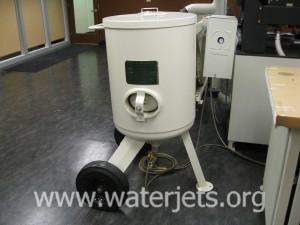 waterjet bulk abrasive feed hopper