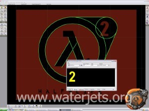 Half Life 2 Logo being traced in CAD