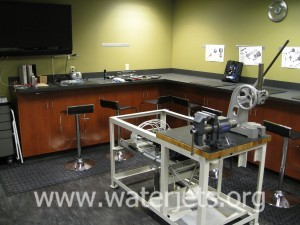 A clean area for waterjet maintenance