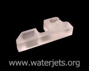 quartz glass part cut by waterjet
