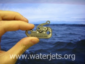 SeaCatch part made on a waterjet using a minijet nozzle