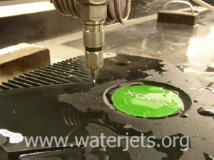 Waterjet cutting of a prototype Xbox